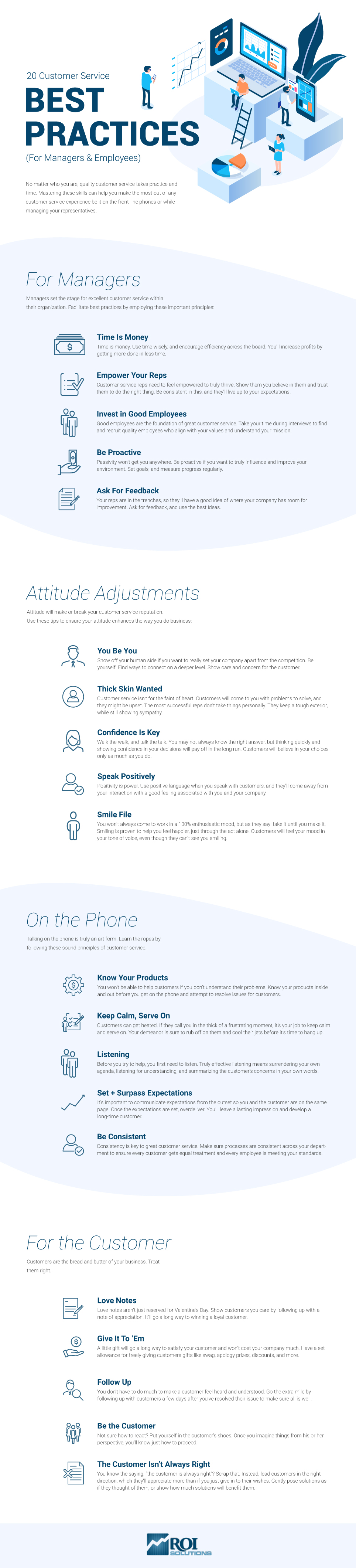 Customer service best practices inforgraphic
